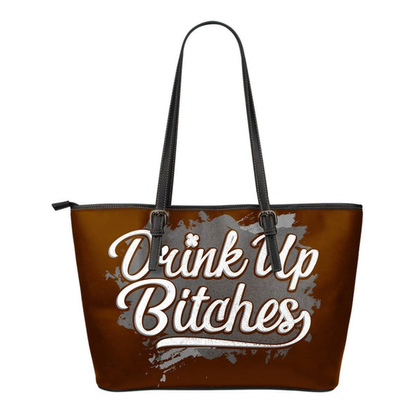 Drink Up Small Leather Tote