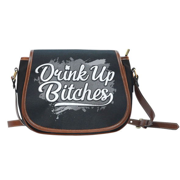 Drink Up | Canvas/Leather Saddle Bag