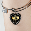 Gorgeous Beer Drinking Girlfriend Heart