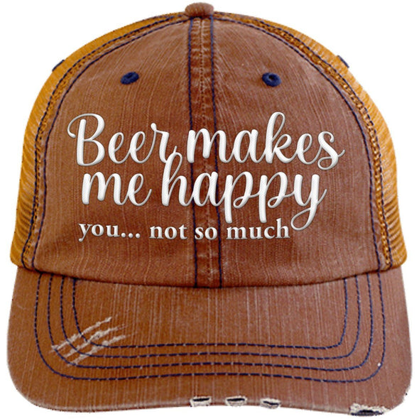 Beer Makes Me Happy You not so much Cap - Last Beer Standing