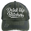 Drink Up Distressed Cap
