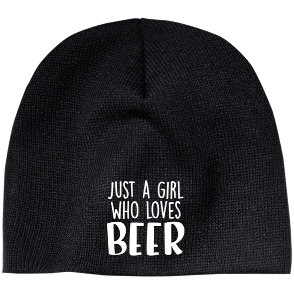 Just A Girl Who Loves Beer Beanie - Last Beer Standing