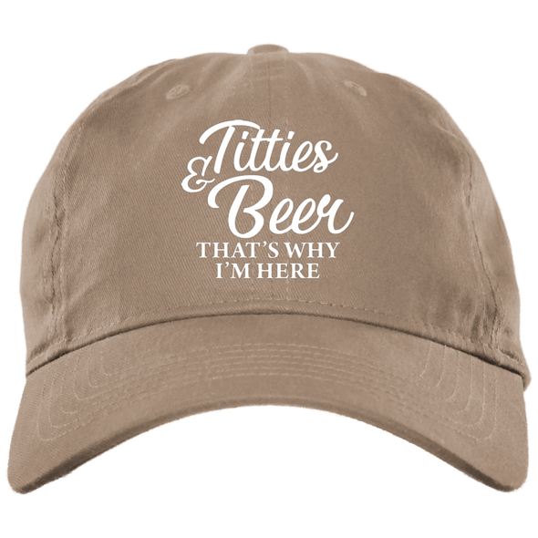 Titties and Beer Brush Twill Cap