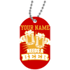 Needs-a-Beer Dog Tag Necklace
