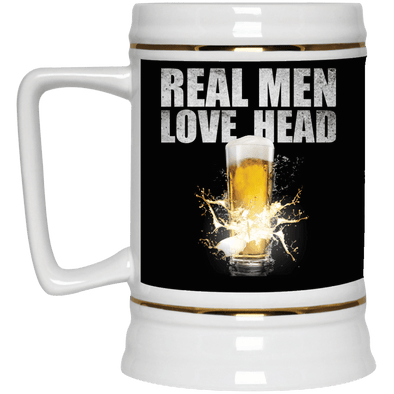 Real Men Love Head Beer Stein