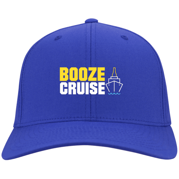 Booze Cruise Flex Fit Twill Baseball Cap - Last Beer Standing