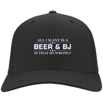 All I want is Beer and BJ Flex Fit Twill Baseball Cap