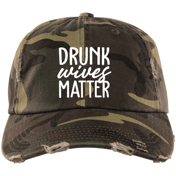 Drunk Wives Matter Distressed Cap - Last Beer Standing