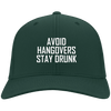 Avoid Hangover Stay Drunk Flex Fit Twill Baseball Cap