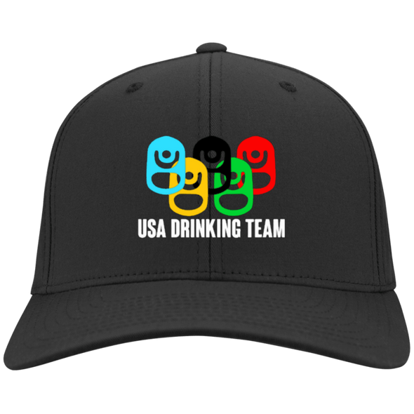 USA Drinking Team Flex Fit Twill Baseball Cap