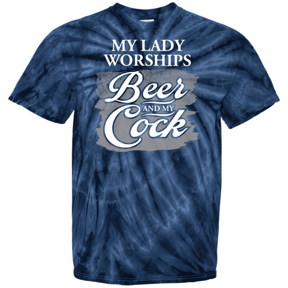 Beer and My Cock 100% Cotton Tie Dye T-Shirt