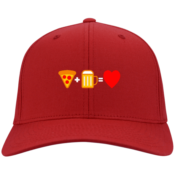 Pizza Beer Love Flex Fit Twill Baseball Cap