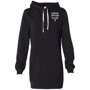 DRINK DRANK DRINK AF Women's Hooded Pullover Dress - Last Beer Standing