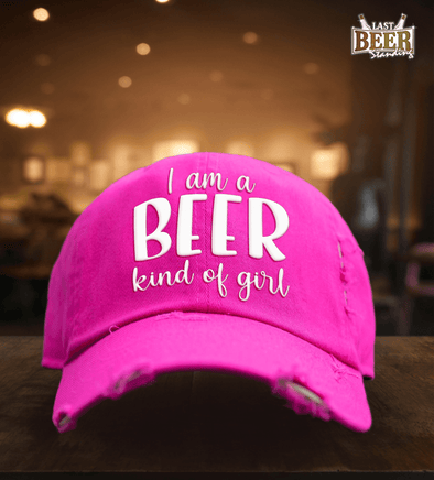 I am a Beer Kind of Girl Pink Cap - Last Beer Standing