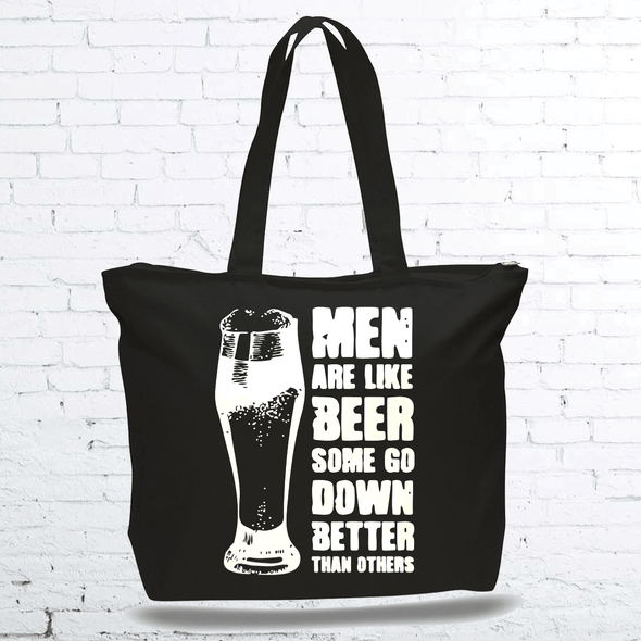 Men Are Like Beer Canvas Bag