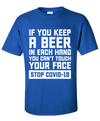 If you keep a Beer in each hand you can't touch your face. Stop COVID-19 - Last Beer Standing