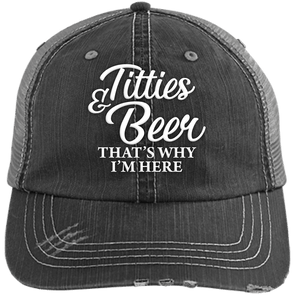 Titties & Beer Unstructured Trucker Cap