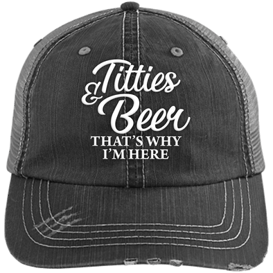Titties & Beer Unstructured Trucker Cap - Last Beer Standing