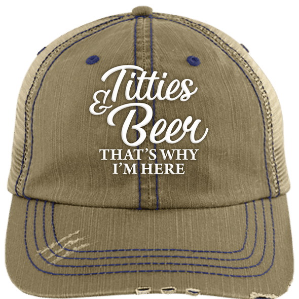 T & B Unstructured Trucker Cap