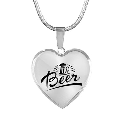 Beer Heart Necklace