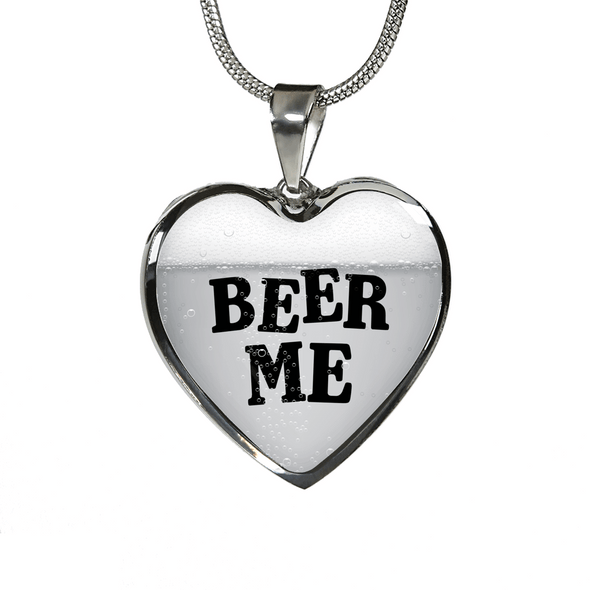 Beer Me High Quality Heart Necklace