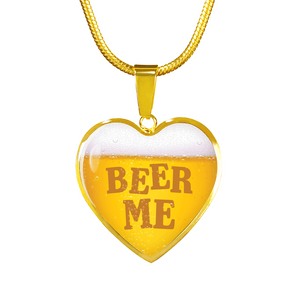 Beer Me Real 18k Gold Finish Necklace