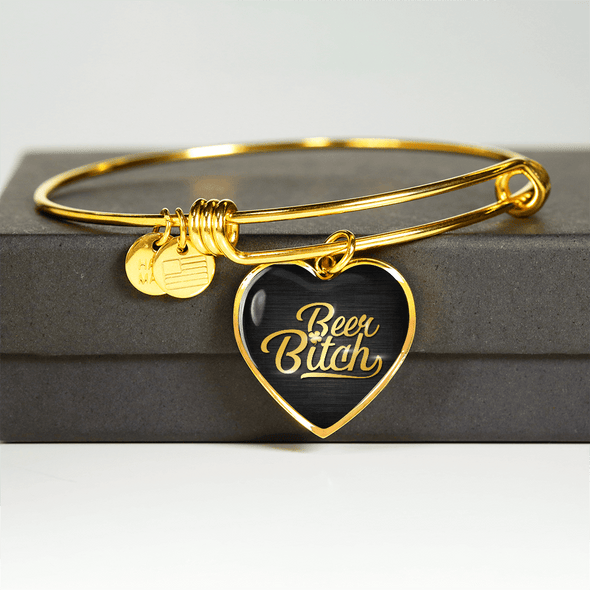 Beer B*tch Real 18k Gold Finish