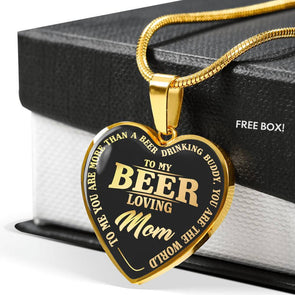To My Beer Loving Mom Gold