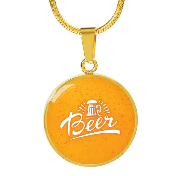 Beer Round Necklace