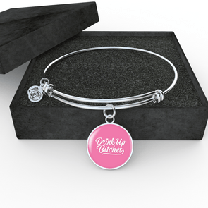 Drink Up Adjustable Stainless Steel Bangle