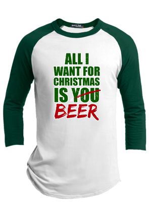 All I Want for Christmas Raglan