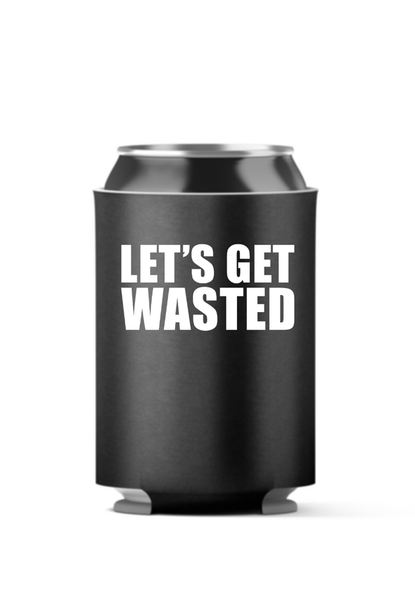 4-Pack Koozies Let's Get Wasted