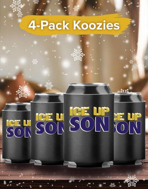 4-Pack Koozies Ice Up