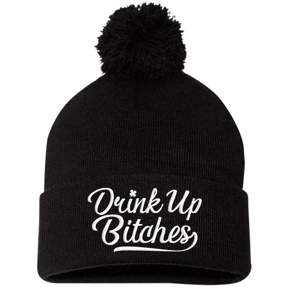 Drink Up Pom Pom Knit Cap