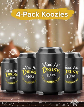 4-Pack Koozies Drunk Here