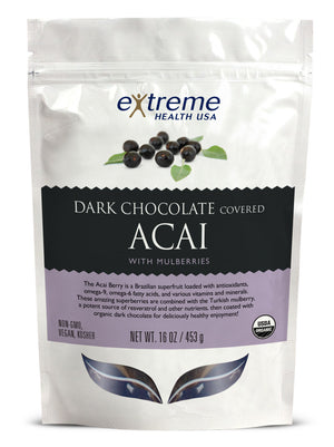 Dark Chocolate Acai with Mulberries - Sprout Planet