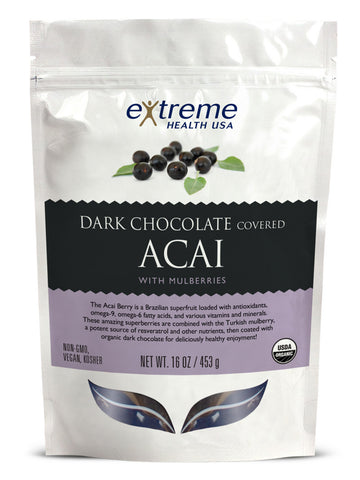 Image of Dark Chocolate Acai with Mulberries - Sprout Planet