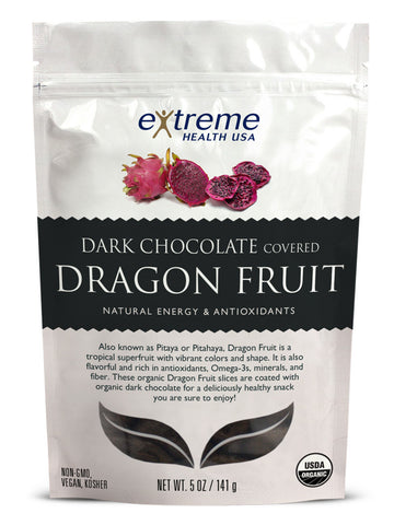 Dark Chocolate Covered Dragonfruit - Sprout Planet