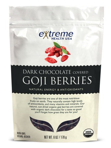 Dark Chocolate Covered Goji Berries - Organic - Sprout Planet