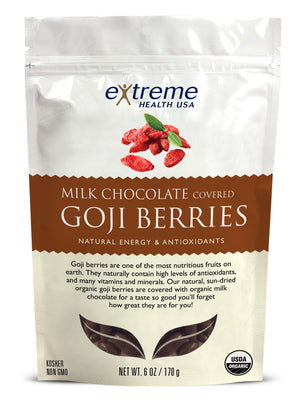 Milk Chocolate Covered Goji Berries - Organic - Sprout Planet