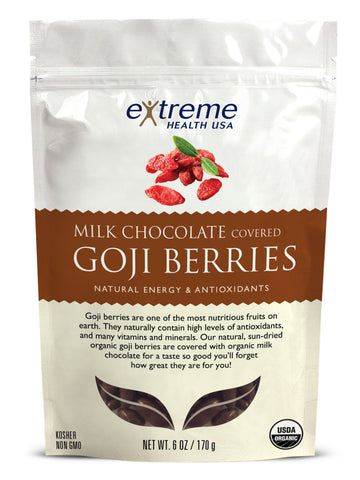 Image of Milk Chocolate Covered Goji Berries - Organic - Sprout Planet