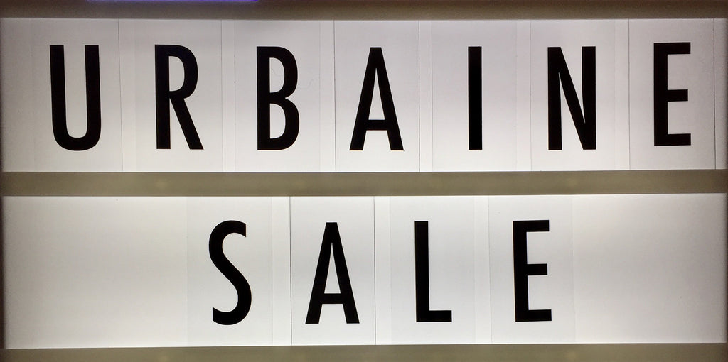 The First URBAINE SALE and the URBAINE HAPPY EASTER FAIR on April 2nd