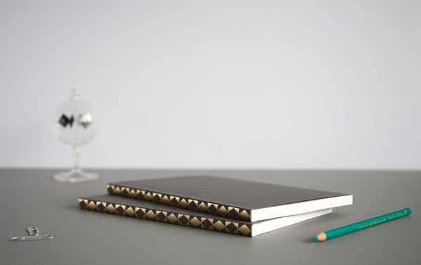 Notebooks - Patterned Spine A5 (2 designs)