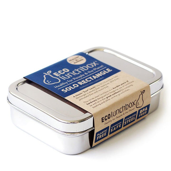 Ecolunchbox Stainless Steel Solo Rectangle Chrome 850ML