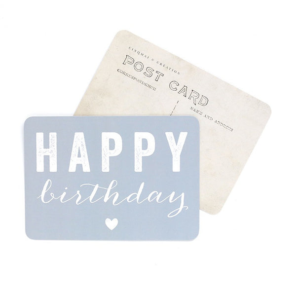 Happy Birthday Cards (3 Colours) 10 x 15cm