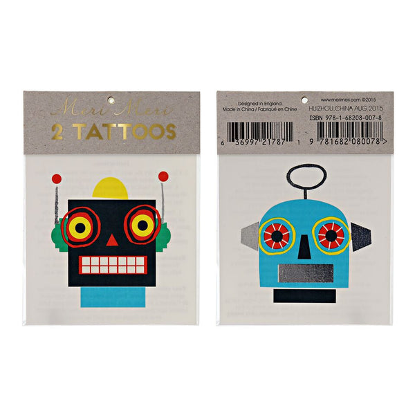 Two Cool Robot Tattoos