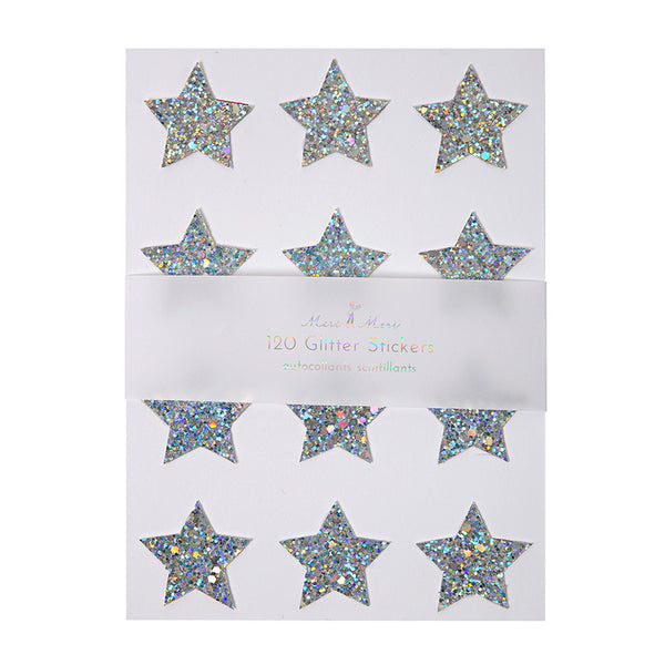 Star Sticker Sheets Silver or Gold Glitter