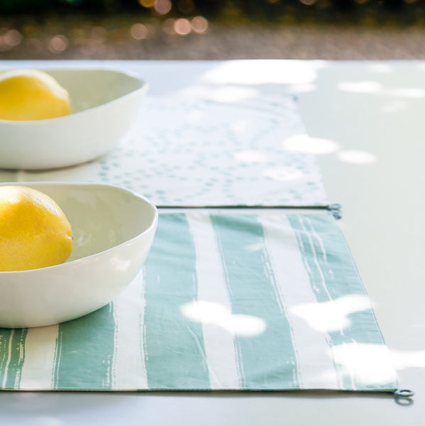 Pajan Blue White Reversible Placemat 35cm X 50cm