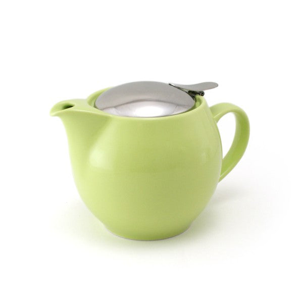 Zero Japan Teapot Round 0.45L White - Black - Kiwi