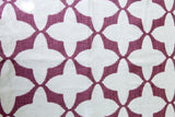 Tabu Pink and White, 100% Cotton Runner, 47cm x 150cm